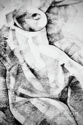 Drawing - Beautiful Abstract Woman Body Drawing by Dimitar Hristov