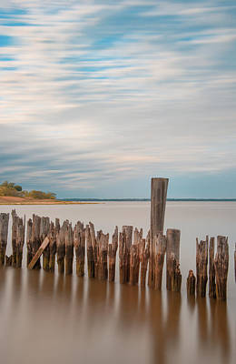 Beautiful Aging Pilings In Keyport Art Print