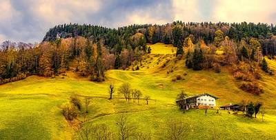 Photograph - Beautiful Alpine Valley In Autumn by Pixabay