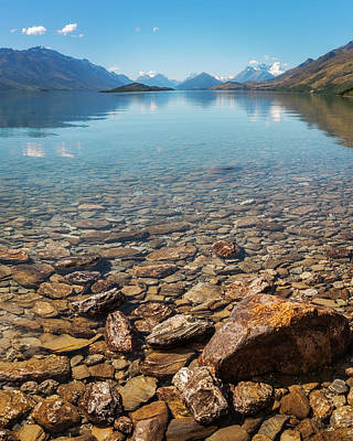 Photograph - Beautiful Alpine View From The Shore Of Lake Wakatipu , New Zeal by Daniela Constantinescu