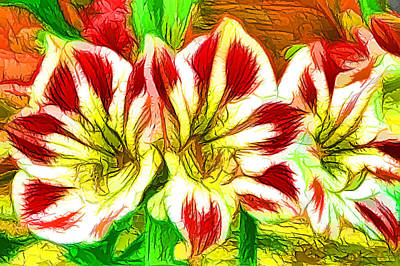 Floral Painting - Beautiful Amaryllis Flower by Lanjee Chee