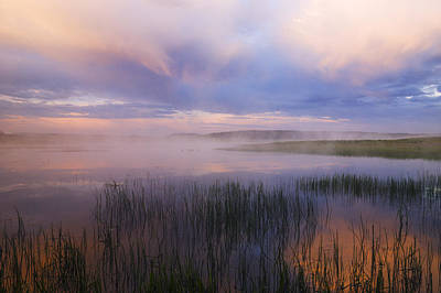 Photograph - Beautiful And Dramatic Sunrise In Yellowstone National Park  by Vishwanath Bhat