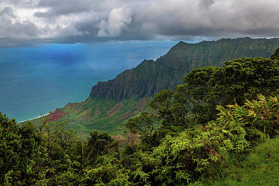Photograph - Beautiful And Illusive Kalalau Valley by John Hight