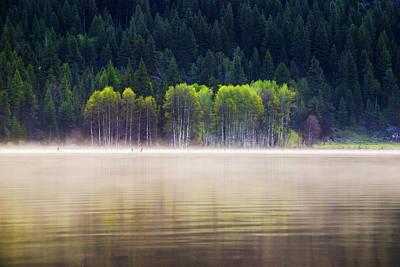 Fog Rising Photograph - Beautiful And Serene Scene At A Lake In Mccall Idaho by Vishwanath Bhat