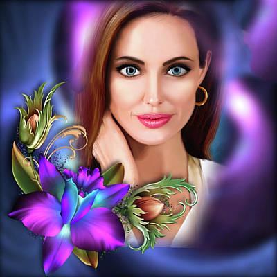 Digital Art - Beautiful Angie by Karen Showell