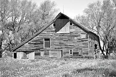 Photograph - Beautiful Antique Wood Barn by Kathy M Krause