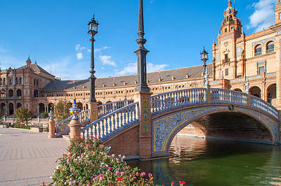 Photograph - Beautiful Architecture Of Plaza De Espana In Seville by Jenny Rainbow