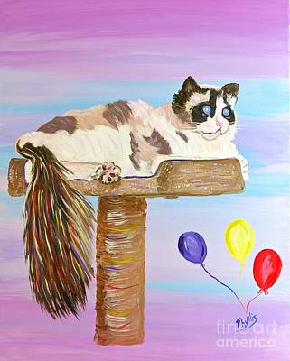 Painting - Beautiful Athena The Ragdoll Cat by Phyllis Kaltenbach