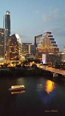 Photograph - Beautiful Austin At Night by Doreen Whitelock