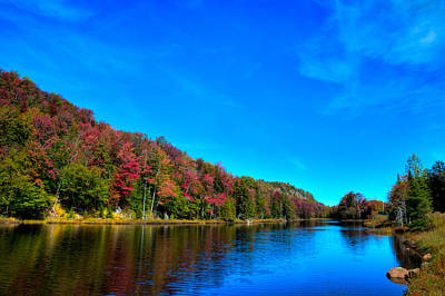 Photograph - Beautiful Autumn Reflections On Bald Mountain Pond by David Patterson
