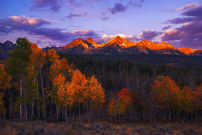 Photograph - Beautiful Autumn Sunrise Along Sawtooth Range Stanley Idaho by Vishwanath Bhat