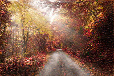 Photograph - Beautiful Autumn Trail Painting by Debra and Dave Vanderlaan