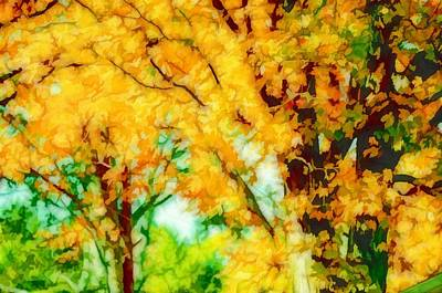 Beautiful Autumn Trees 3 Art Print by Lanjee Chee