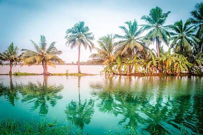 Tropical Photograph - Beautiful Backwater Kerala, India. by Art Spectrum