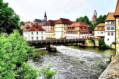 Beautiful Bamberg On The River Art Print
