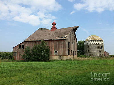 Photograph - Beautiful Barn And Mini Silo by Kathy M Krause