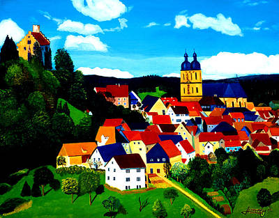Painting - Beautiful Bavarian Village by JoeRay Kelley