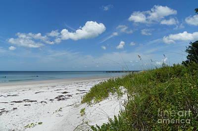 Art Print featuring the photograph Beautiful Beach Day by Carol  Bradley