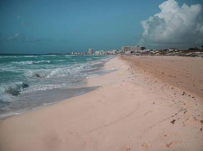 Digital Art - Beautiful Beach In Cancun, Mexico by Nicolas Gabriel Gonzalez