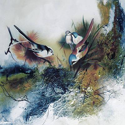 Beautiful Birds On A Bunch  Original
