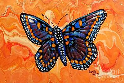 Painting - Beautiful Black Butterfly by Sandra Lett