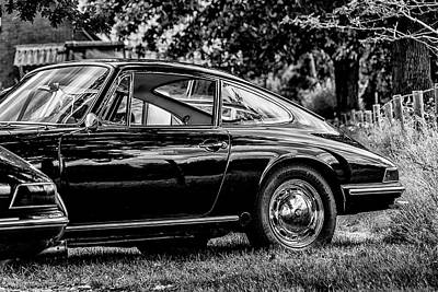 912 Photograph - Beautiful Black Porsche 912 Bw by 2bhappy4ever