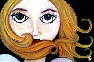 Drawing - Beautiful Blonde by Nicole Dumond-Barry