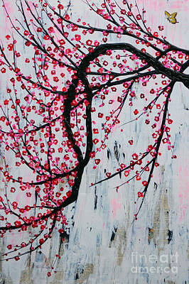 Art Print featuring the painting Beautiful Blossoms by Natalie Briney