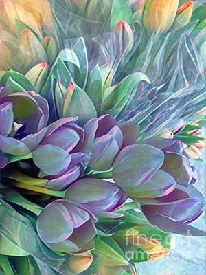 Photograph - Beautiful Blues Of Spring - Tulips by Miriam Danar
