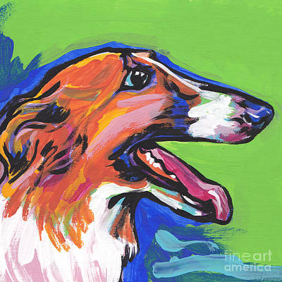 Beautiful Borzoi Art Print by Lea S