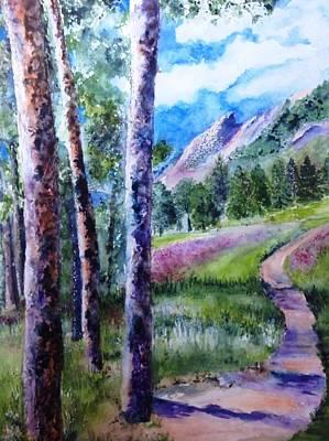 Beautiful Boulder, Colorado Print by Kathy Sievering