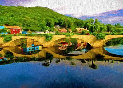 Painting - Beautiful Bridge Of Flowers by Mitchell R Grosky