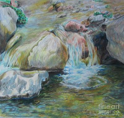 Beautiful Creek Drawing - Beautiful Brook by Stephanie  Skeem