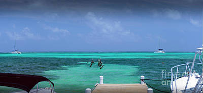 Photograph - Beautiful Caribbean Turquoise Sea by David Zanzinger