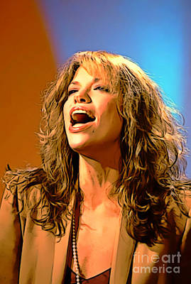 Recently Sold - Musicians Royalty Free Images - Beautiful Carly Simon Digital Art Painting Royalty-Free Image by Pd