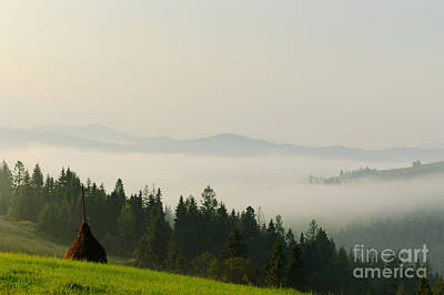Photograph - Beautiful Carpathians With A Foggy Mountain. by Iryna Soltyska