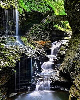 Watkins Glen New York Photograph - Beautiful Cascade by Frozen in Time Fine Art Photography