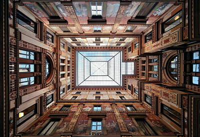 Photograph - Beautiful Ceiling Rome by Songquan Deng