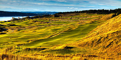 Us Open Photograph - Beautiful Chambers Bay Panorama by David Patterson