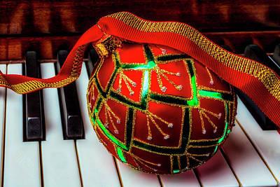 Photograph - Beautiful Christmas Ball by Garry Gay