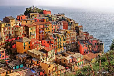 Photograph - Beautiful Cinque Terre by Walt  Baker