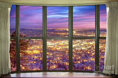 Photograph - Beautiful City Lights Bay Window View by James BO Insogna