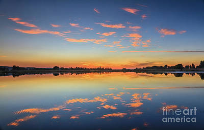Photograph - Beautiful Cloud Reflections   by Robert Bales