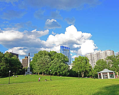 Photograph - Beautiful Clouds On The Boston Common Boston Ma by Toby McGuire
