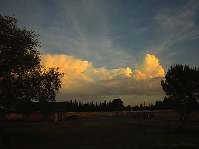 Photograph - Beautiful Clouds On The Ranch by Joyce Dickens