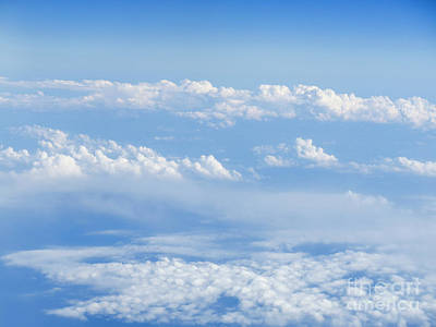 Beautiful Cloudscape On A Blue Sky  Art Print by Ami Siano
