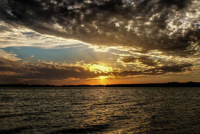 Photograph - Beautiful Cloudy Sunset by Doug Long