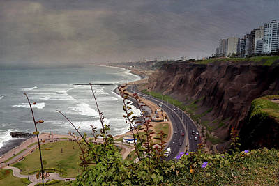 Photograph - Beautiful Coastline Of Lima by Kathryn McBride