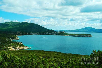 Featured Tapestry Designs - Beautiful Coastline of Sardinia Island Italy by Just Eclectic