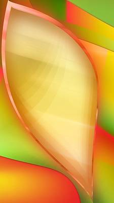 Digital Art - Beautiful Colorful  Leaf Art by Sheila Mcdonald